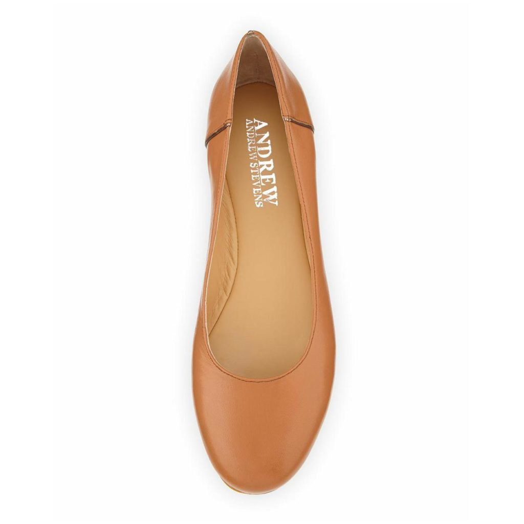 Leather ballets flats