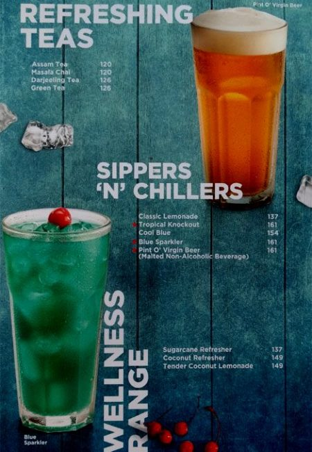 CCD Menu with Prices Sector 14 Gurgaon Teas