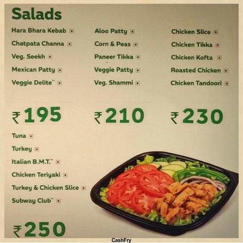 Subway Menu-1
