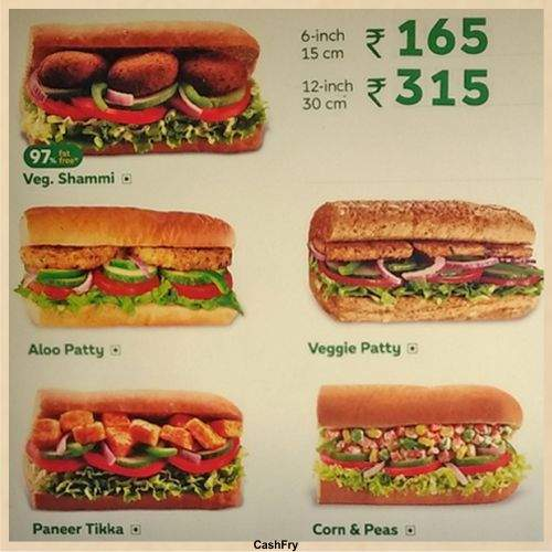 Subway Menu-2
