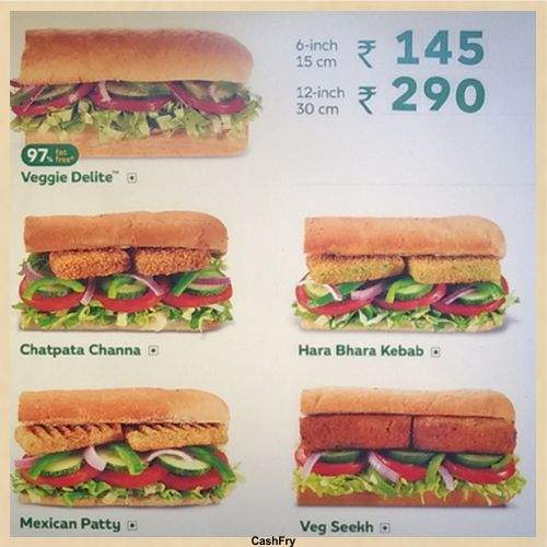 Subway Menu-3