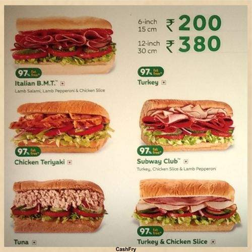 Subway Menu-4