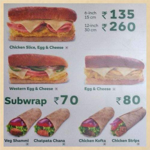 Subway Menu-7