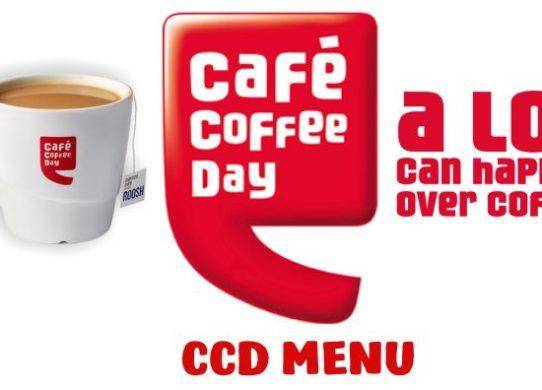 CCD Menu with Price Cafe Coffee Day Menu