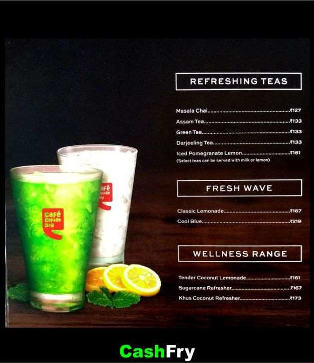 CCD Menu with Price Pune