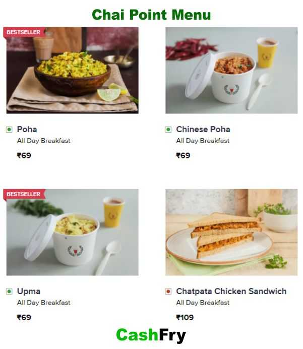 Chai Point Menu with Prices-001