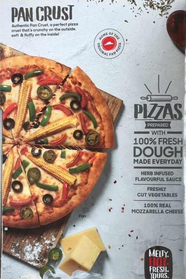Pizza Hut Menu Pizza Hut India Menu Card Prices Every Day New Pan Pizza Pan Crust