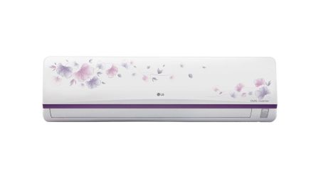 LG 1.5 Ton 3 Star Inverter Split AC Copper JS-Q18FUXD1 White Floral