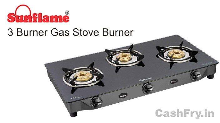 3 Burner Gas Stove Stainless Steel