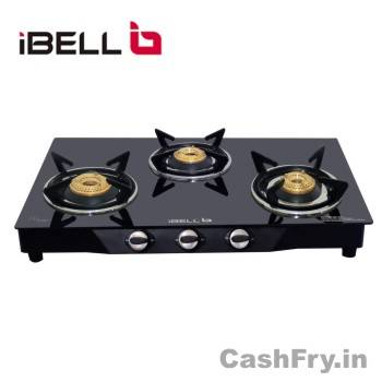 Best 3 Burner Gas Stove Stainless Steel iBall