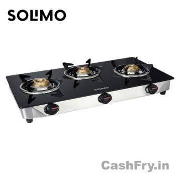 Best 3 Burner Gas Stove Stainless Steel Solimo