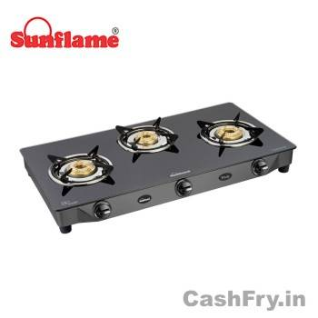 Best 3 Burner Gas Stove Stainless Steel Sunflame