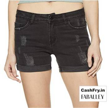 Denim Shorts for Women Faballey