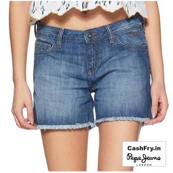 Denim Shorts for Women online Pepe Jeans
