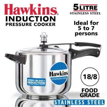 Buy Hawkins Stainless Steel Pressure Cookers 5 Litres-B00F3ECE6G