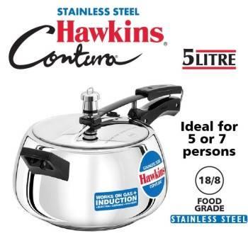 Buy Hawkins Stainless Steel Pressure Cookers 5 Litres-B07HJBLZGT