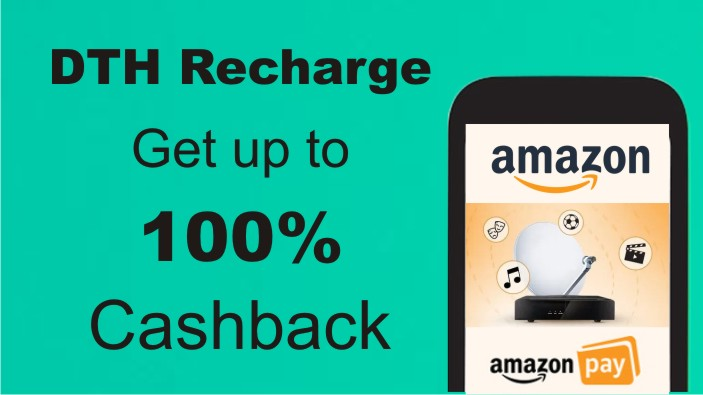 Amazon dth Recharge Offer Dish TV Tata Sky Airtel d2h Sun Direct