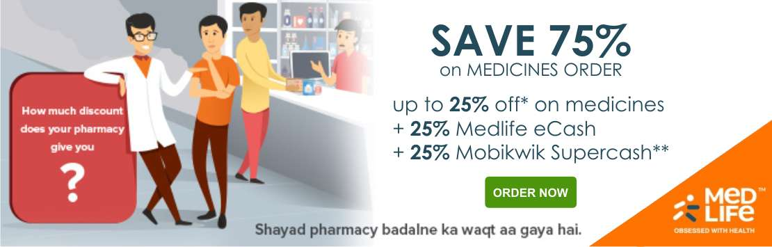 75% Off Medlife Medicines Coupons